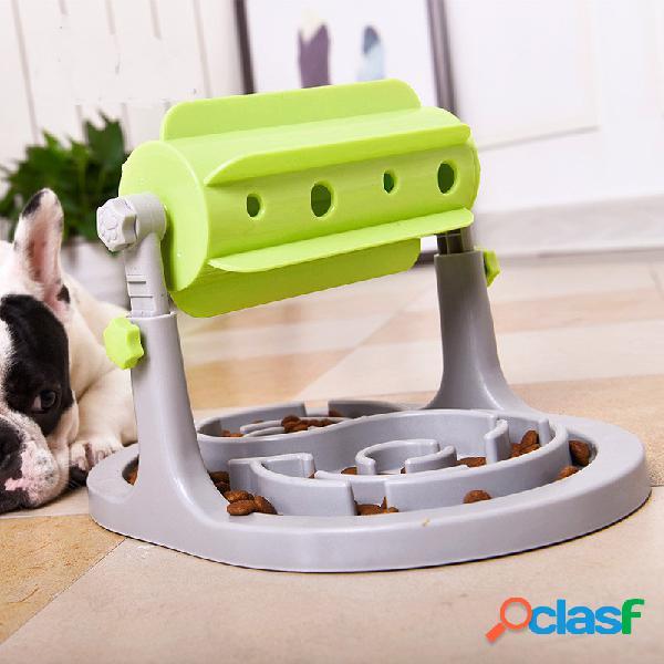 Alimentatore di giocattoli interattivi per animali domestici con alimentatore a rulli cane gatto slow eating training tool