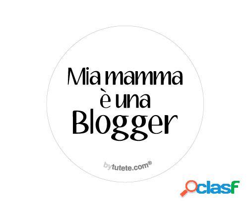1 distintivo mamma blogger