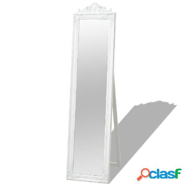 Vidaxl specchio da pavimento in stile barocco 160x40 cm bianco
