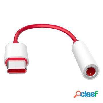 Oneplus usb-c / 3.5mm cable adapter - bulk - red / white