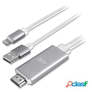 Adattore lightning / hdmi 4k uhd 4smarts per iphone, ipad, ipod - 1.8m