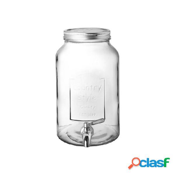 Vaso country punch barrel in vetro lt 6 - trasparente