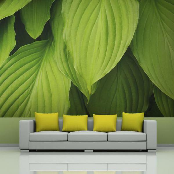 Fotomurale - bright green leaves 400x309cm carta da parato