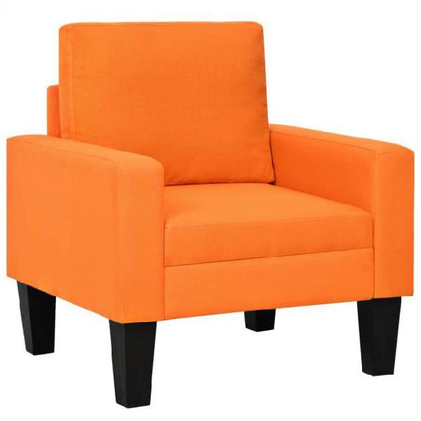 Vidaxl poltrona arancione in tessuto