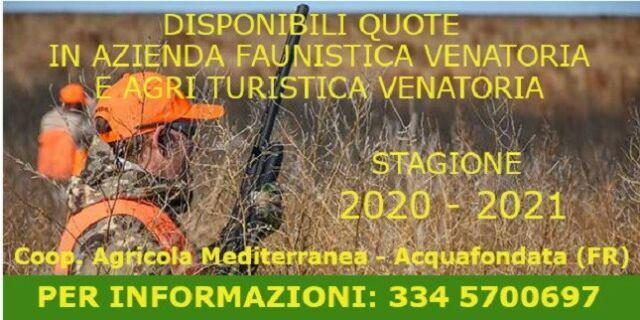 Quote in riserva di caccia