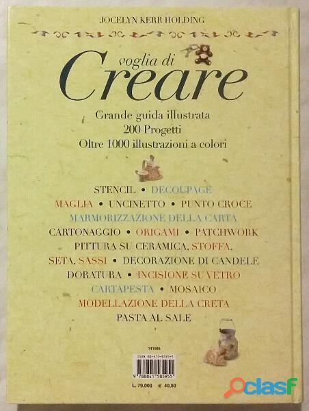 VOGLIA DI CREARE JOCELYN KERR HOLDING+COFANETTO EDITORIALE DE AGOSTINI 2000 NUOVO 3