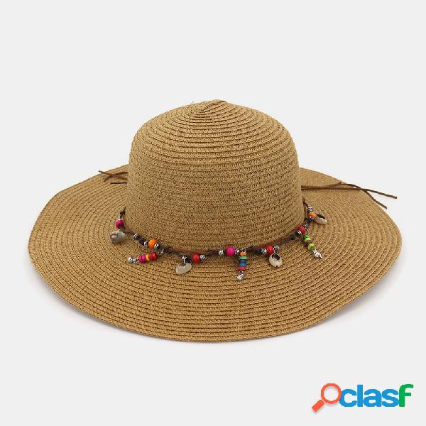 Moda donna selvaggia estate protezione solare cappelli di ...