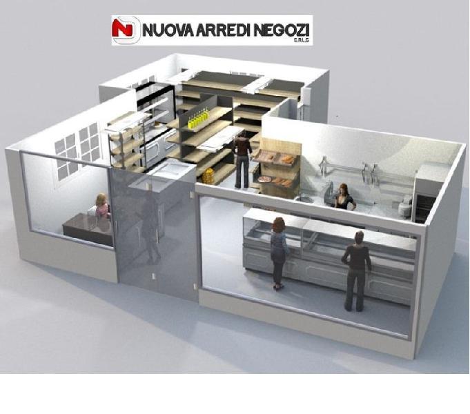 Arredo e attrezzature mini-market salumeria & formaggeria