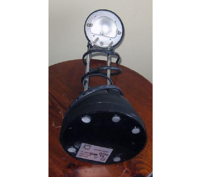 Lampada alogena da tavolo colore nero