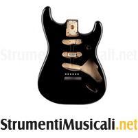 Fender classic series '60s stratocaster sss alder body black
