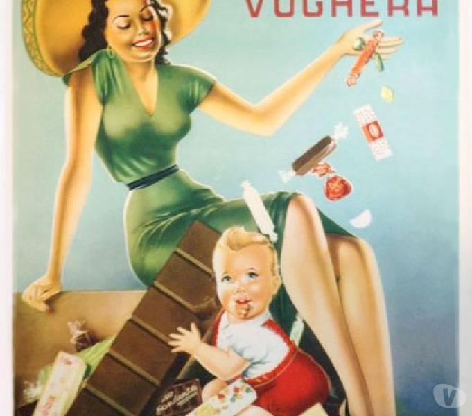 Manifesto originale a.p.i. cioccolato-torrone 70x100