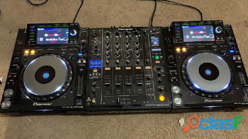Dj player x2 pioneer cdj2000 nexus dj+1 djm 900 nexus