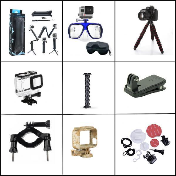 Kit accessori gopro hero 5/6/7 supporti asta selfie maschera