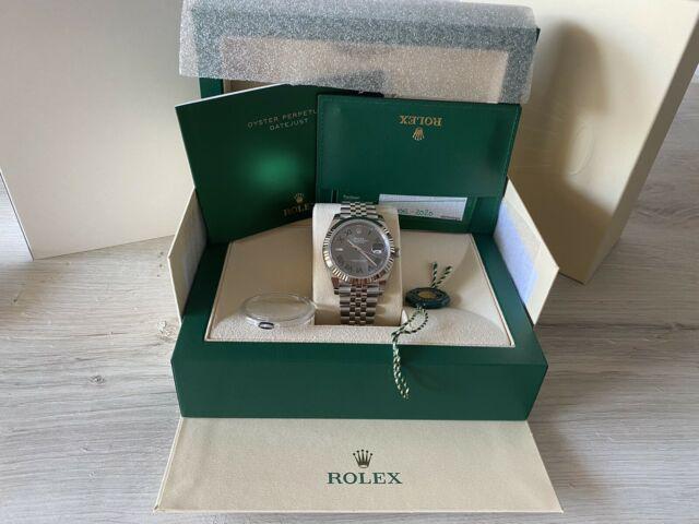 Rolex datejust acciaio wimbledon 41 mm 126334