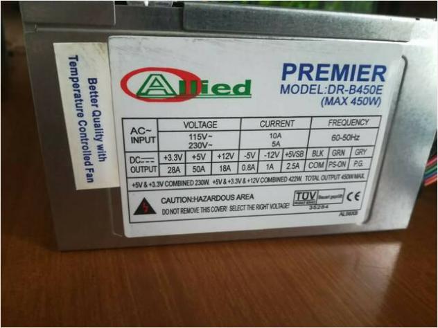 Alimentatore allied premier dr-b450e (450w) usato