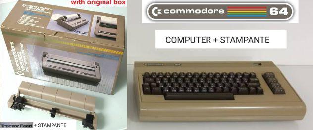 Computer commodore 64 usato + stampante mod. mps 803 nuova +