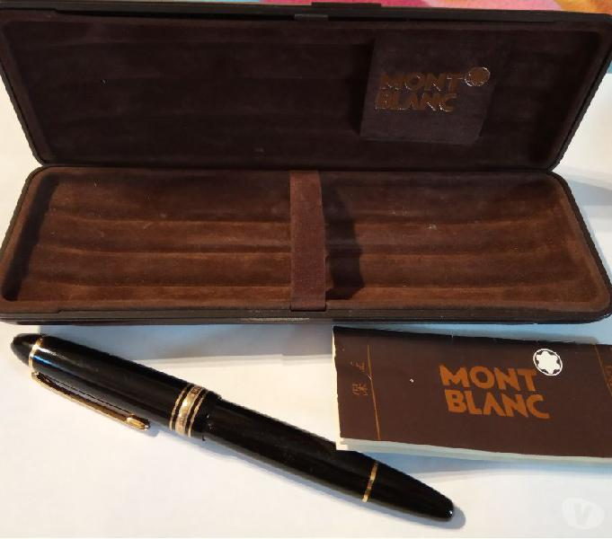 Montblanc meisterstuck 149 penna stilografica nero nib oro 1