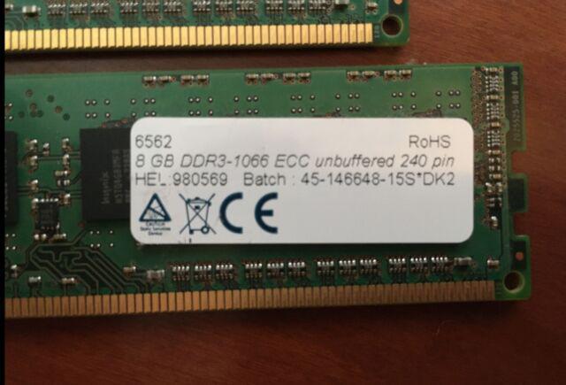 Memoria ram 32 gb ddr3 1066 ecc