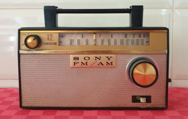 Radio sony am/fm 12 transistor tfm121 vintage anni 60