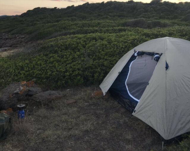 Tenda da campeggio due posti con zanzariera