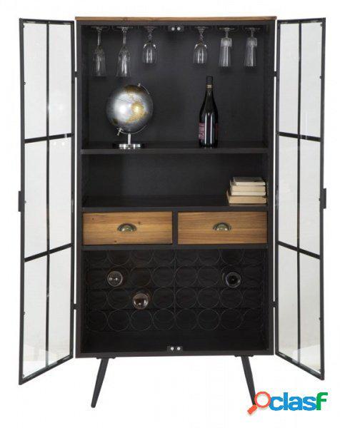 Vetrina mobile porta vini da soggiorno o dispensa stile industriale