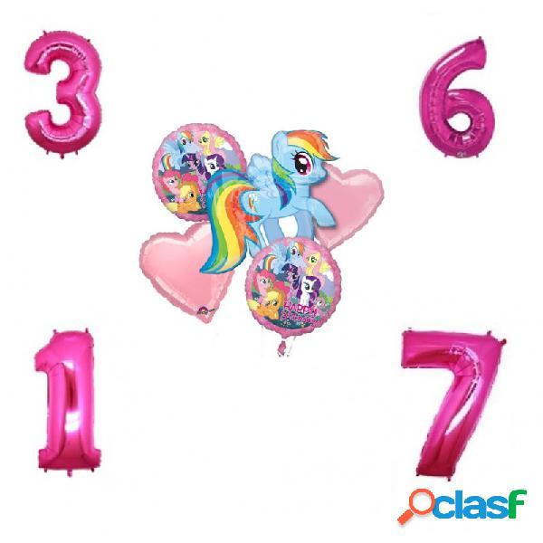 Bouquet palloncini foil my little pony + 1 numero foil a scelta