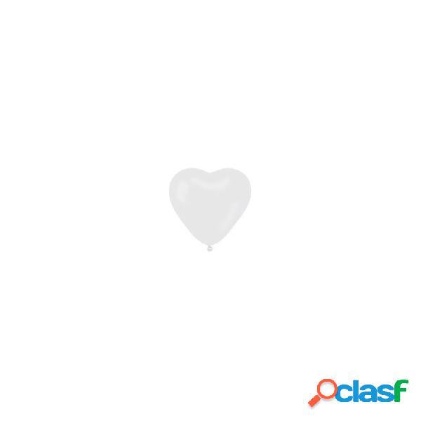 100 palloncini cuore cr6 bianchi per cerimonia