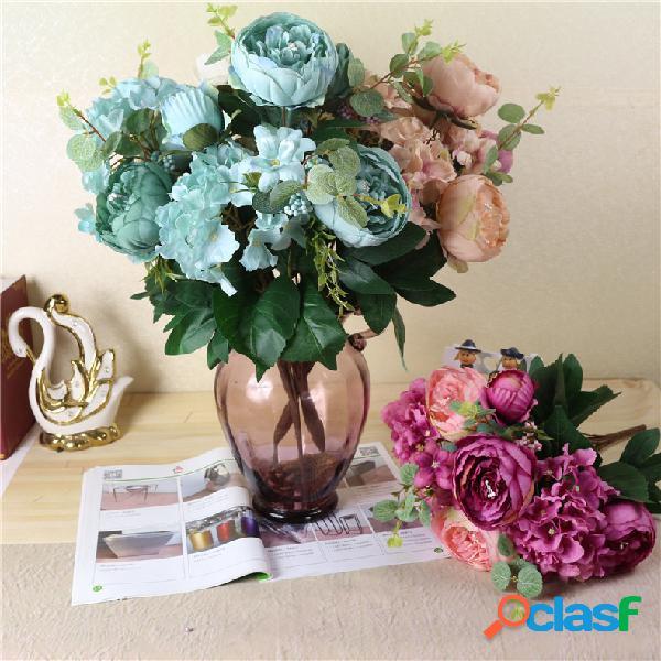 Set di fiori finti arredamento per la casa artigianato decorazione soggiorno composizione floreale decor