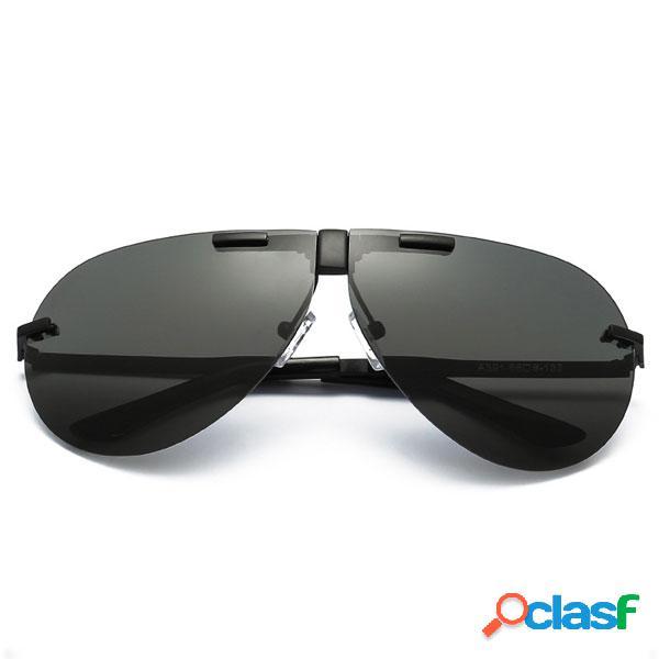 Occhiali da sole polarizzati degli occhiali da sole unisex uv400 di modo uomini occhiali da sole pieganti della pellicola di colore