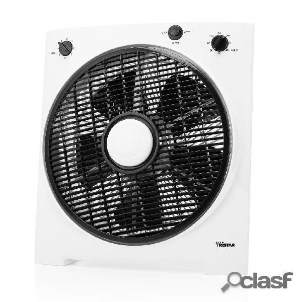 Tristar ventilatore da tavolo ve-5858 30w 30 cm bianco e nero