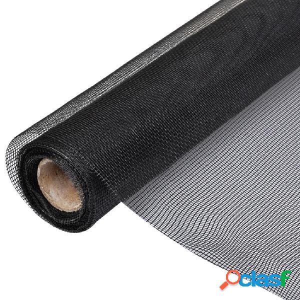Vidaxl zanzariera in fibra di vetro 100x1000 cm nera