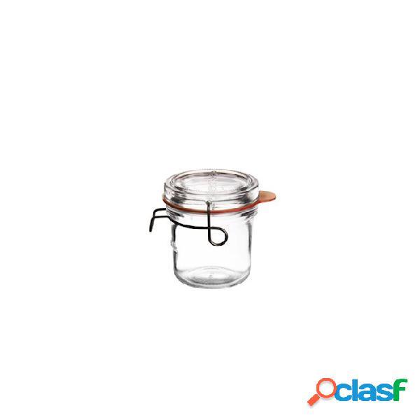 Vasetto lock-eat luigi bormioli con gancio e guarnizione cl 20 - vetro - trasparente