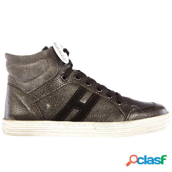Scarpe sneakers bambino pelle rebel r141
