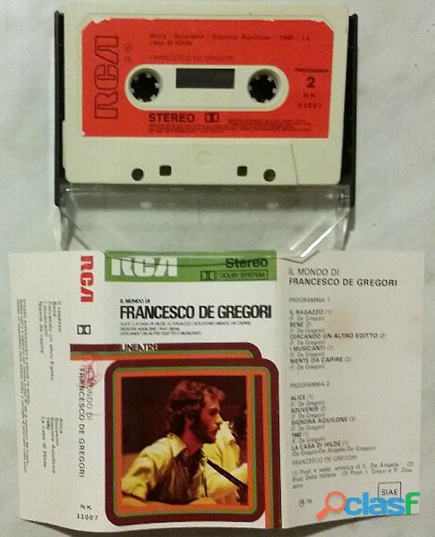 RARO!!MC Musicassetta (1976) IL MONDO DI FRANCESCO DE GREGORI, RCA NK 33007