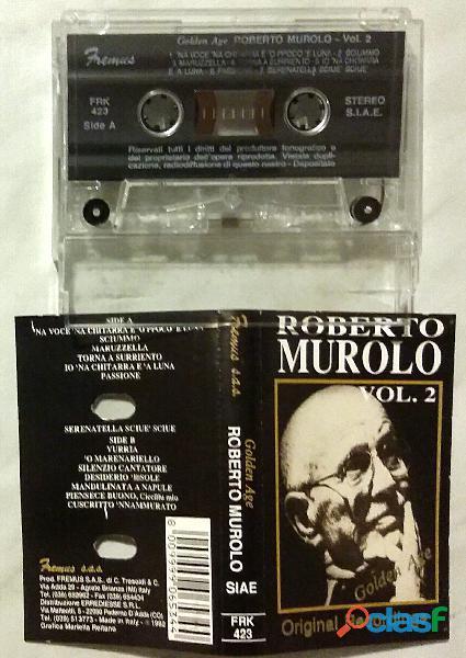 RARO!!MC Musicassetta (1991) ROBERTO MUROLO VOL.2 GOLDEN AGE, CDFR 0331