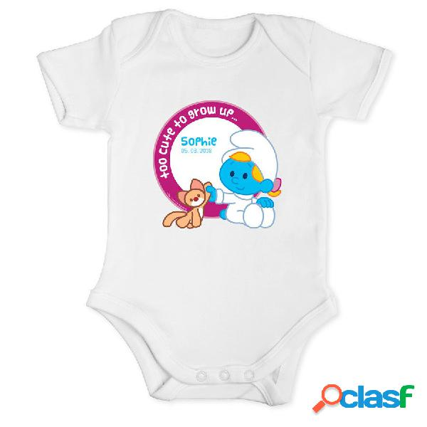 I puffi - body per neonato bianco - taglia 50/56