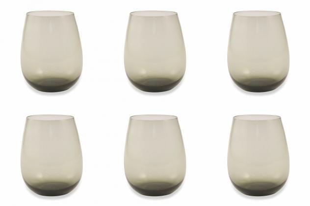Set 6 bicchieri ã?6x11 cm in vetro villa deste happy hour