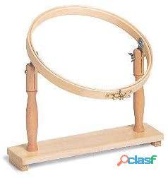 Telaio in legno per ricamo regolabile con sostegno e diametro 25cm.nuovo