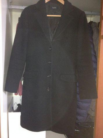 Cappotto in lana nero donna