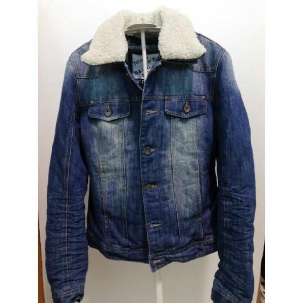 Giubbino d jeans con imbottitura terranova taglia 46