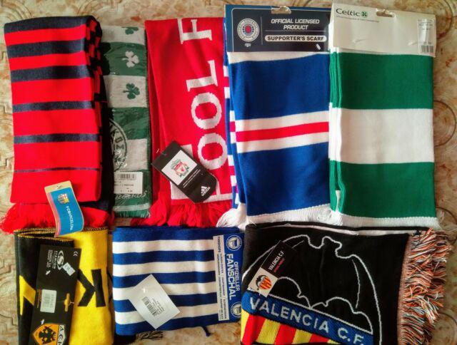 Lotto 8 sciarpe squadre calcio estero,