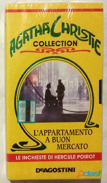 "VHS Agatha Christie Collection ""L'appartamento a buon mercato"" nuovo cellophane"