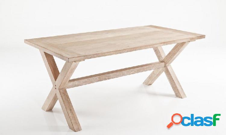 Tavolo da esterno interno legno massello 3misure