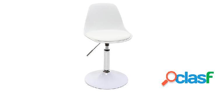 Sedia da ufficio design per bambino bianco steevy