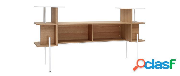 Testiera del letto - scrivania legno e bianco amanda