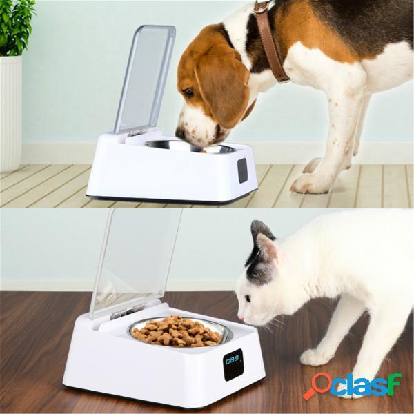 Pet dogs alimentatore automatico sensore a infrarossi coperchio automatico apertura scarafaggio ciotola a prova di umidità
