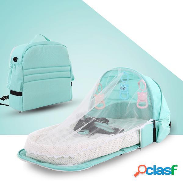 Zanzariera per culla lettino portatile da viaggio multifunzionale letto isolante anti-zanzara letto pieghevole per bambini letto staccabile letto centrale
