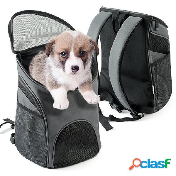 Pet carrier premium travel outdoor mesh backpack carry bag accessorio cane gatto coniglio animali domestici gabbia