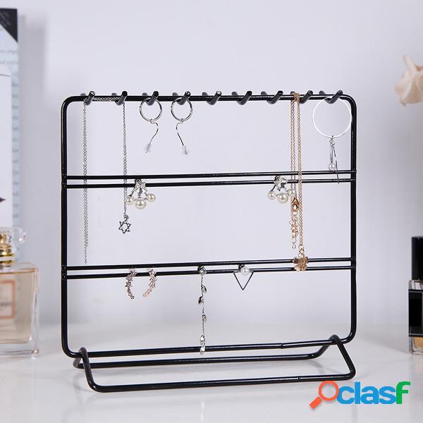 Gioielli in metallo display bracciale da tavolo con orecchini a mensola da tavolo stand holder rack di stoccaggio