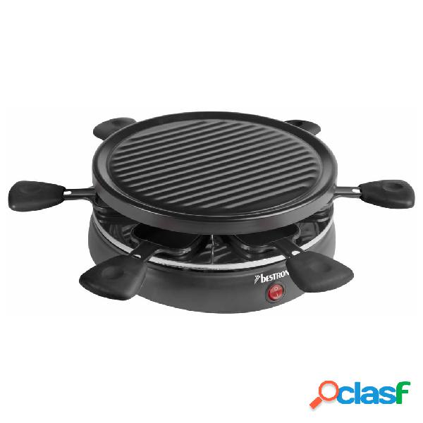 Bestron piastra per raclette arc650 800 w nero